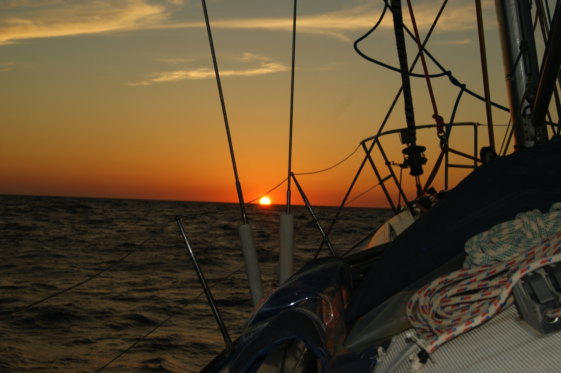 chasing the open sea sunset